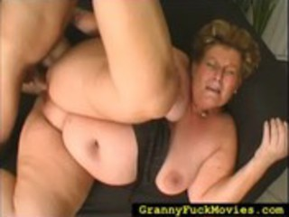 corpulent granny doing all dirty