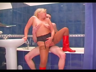 mature wench with saggy whoppers screwed in the