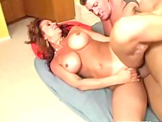 breasty mom will take up with the tongue your