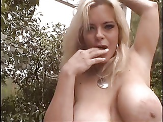 mature strumpets with giant tits finger their