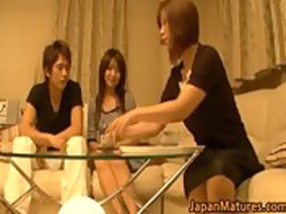 japanese older women have a threesome