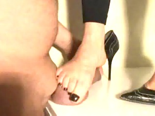 indian wife trampling her husbands cock with her