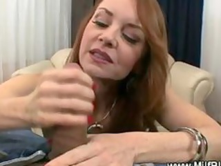 hungry large titted milf sucks rod