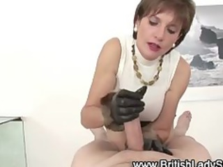 wicked brit lady sonia jerks off jock
