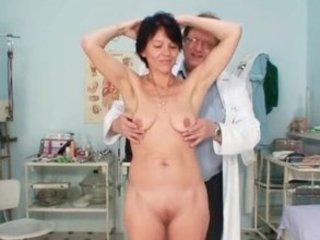 slim milf weird pussy fingering by gyno doctor