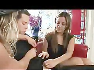 mama makes daughter feel more good with cock