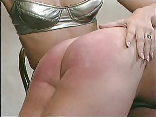 chap getting bent over her knees