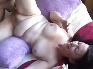 brunette hair milf first copulates on camera