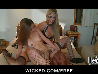 dominant blonde d like to fuck directs two