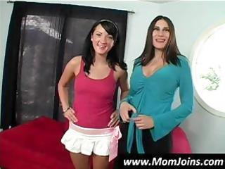 hot dark brown mamma and daughter team shelia