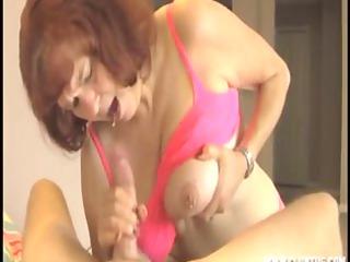 mature woman jerking a knob