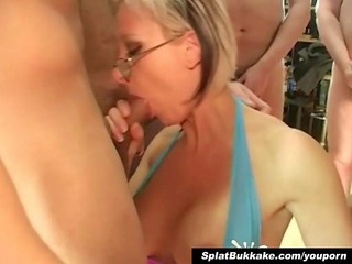 british blond mother i bukkake party