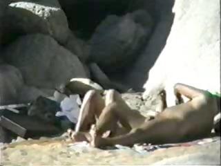 amateur movie scene - nudist beach