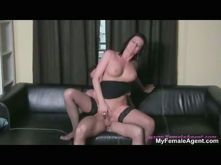 concupiscent brunette wench going eager riding