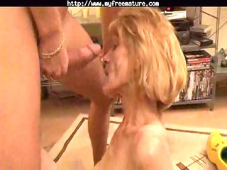 slim mature acquires her hairy snatch boned by