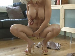 carnal blonde momma with big tits in heels