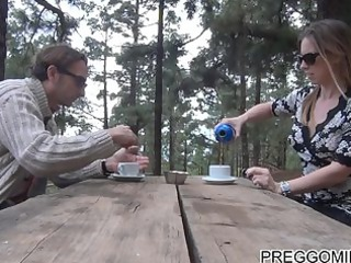 lactating dilettante mother i outdoor teaparty