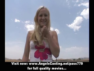 worthwhile amateur golden-haired bitch undressing