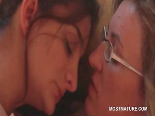 mature lesbians giving cunnilingus in erotic scene