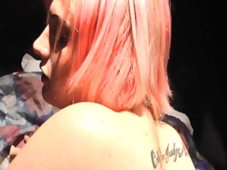 pink haired d like to fuck amanda receives her