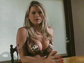 d like to fuck in leopard print bikini receives a