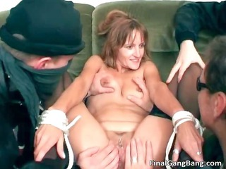 messy dark brown mother i hoe getting drilled