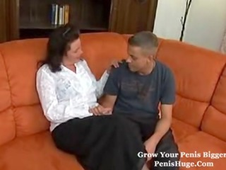 chubby mature with a guy