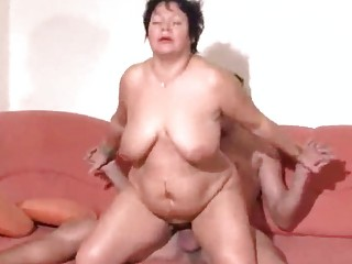 plump pierced german mature