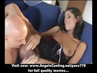 sexy brunette amateur mamma getting cum-hole
