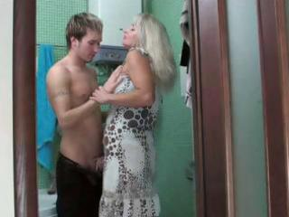 nasty golden-haired mamma sweetheart gets drilled