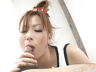 japanese hottie yukina momose licking and eating