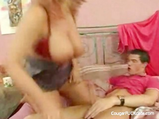 breasty aged cougar vs youthful large dick