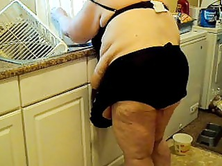 in kitchen maids outfit