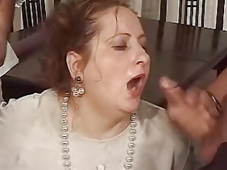 aged gets face hole full of cum