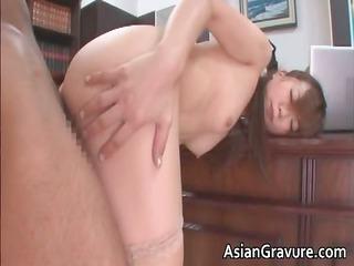 hawt and hot oriental secretary blows rigid
