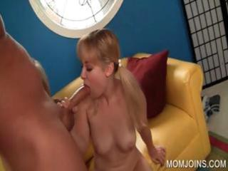 cock engulfing with mama and daughter