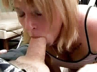 chubby milf shows how she is can to suck cock