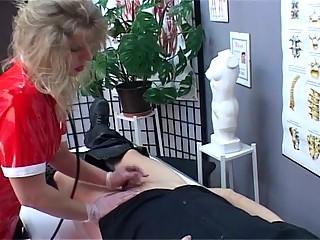 blonde milf nurse acquires horny upon seeing