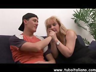 breasty mature italian blond acquires fingered