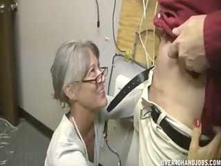 granny jerking an old guy