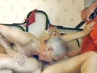 mature german golden-haired acquires double