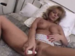 older blonde toying