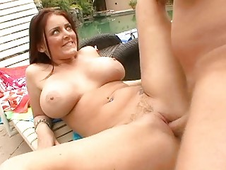 big titted d like to fuck doxy shags by the pool
