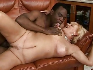 breasty granny fucking with her darksome lover