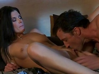 dark haired d like to fuck in red hot lingerie