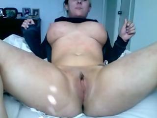 busty wife undresses and masturbates