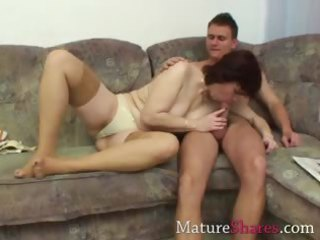 aged plump wife engulfing a new cock