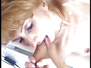 older thick facial