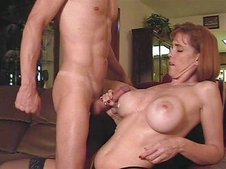 aged sucks penis and acquire big tits splattered