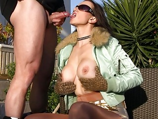 outdoor blowjobs with hawt breasty milfs